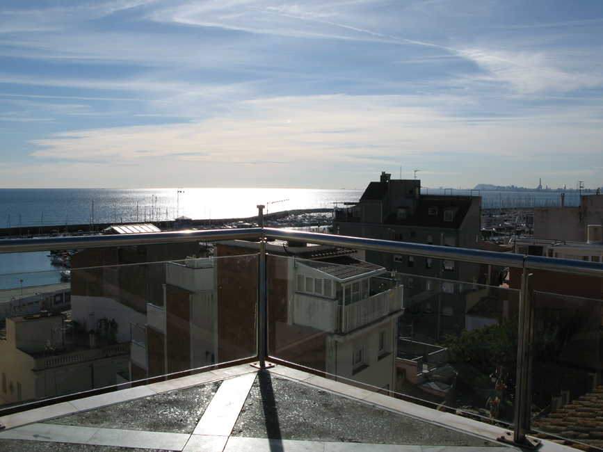 Street Balcony Barcelona background