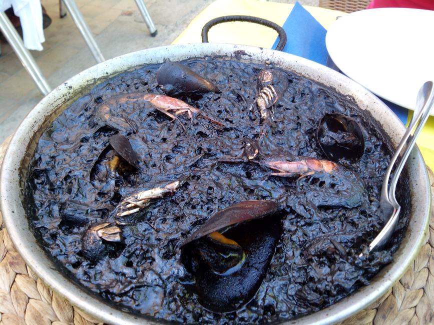 Black Rice in Sea Chiringuito