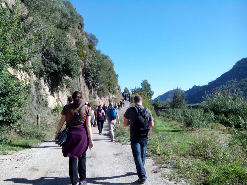 Walking the 12kms between Miravet and Benifallet